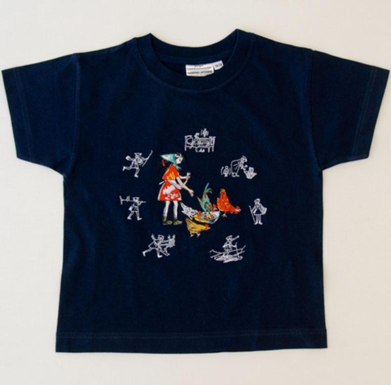 Kinder T-shirt marine «Flurina»