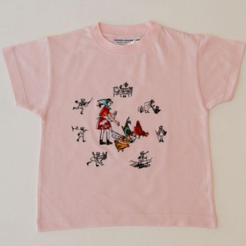 Kinder T-shirt rosa «Flurina»