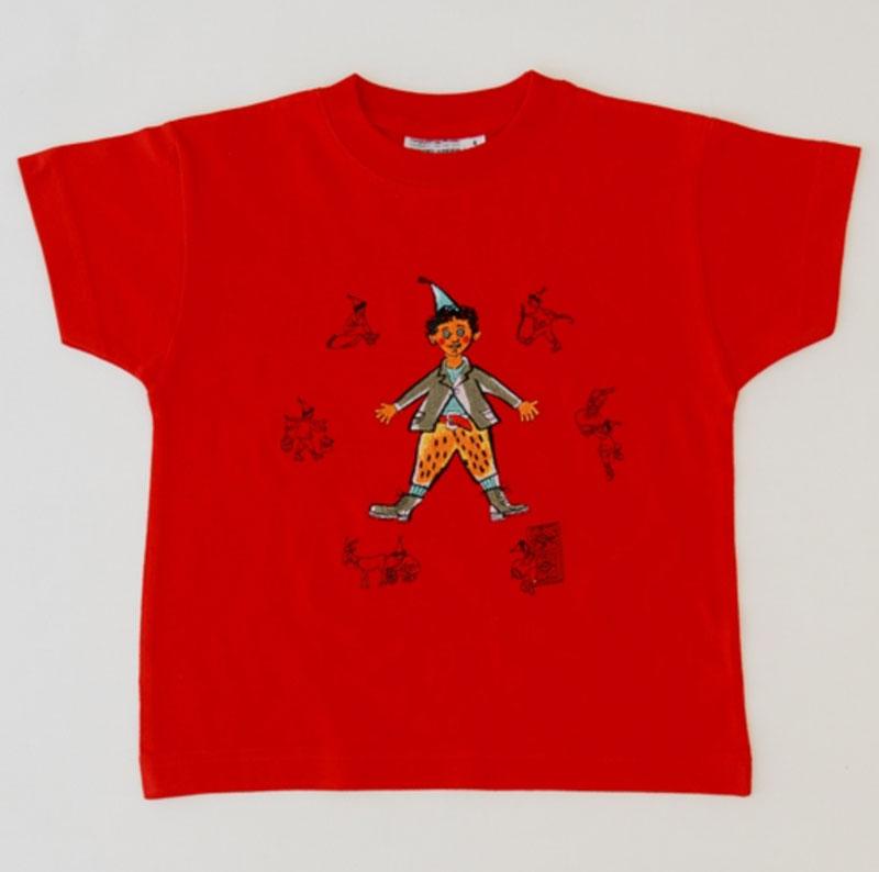 Kinder T-shirt rot «Schellen-Ursli»