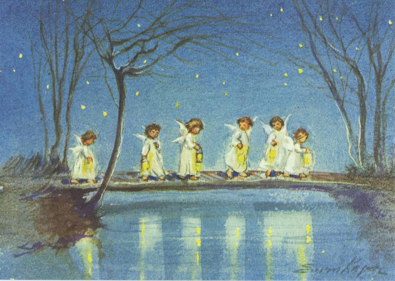 7454 «Sechs Engel mit Laternen»