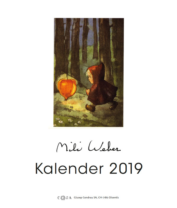 Jahreskalender «Mili Weber 2019»