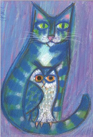 Pid 12 «Katze mit Eule»