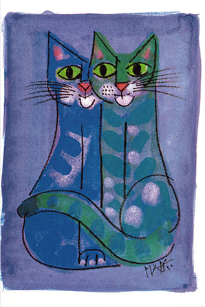 Pid 23 «Blaues Katzenpaar»