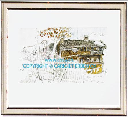 Cp21 «Bauernhaus in Leis»