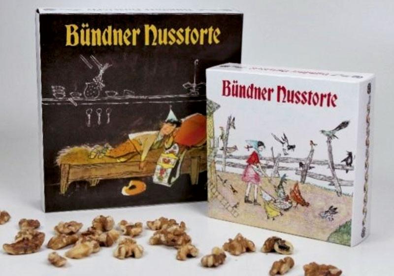 N12 Ursli / Flurina, Bündner Nusstorte klein, 12 cm, AKTION!