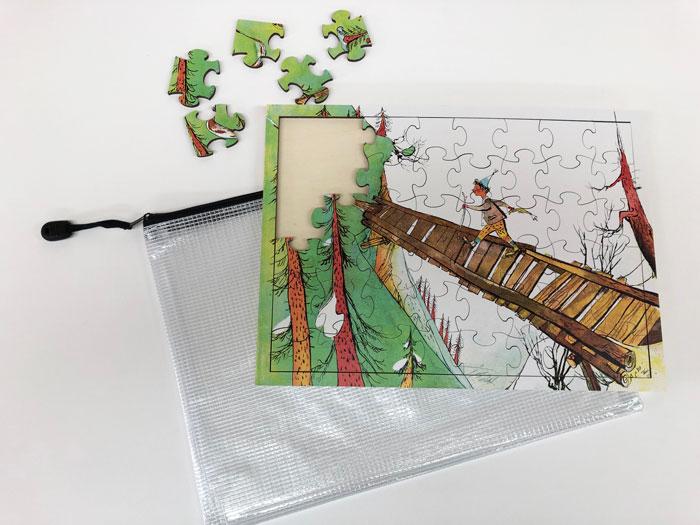 PZ542 Holzpuzzle «Schellen-Ursli»