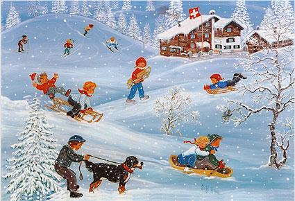 SKe 15  «Winterspass beim Alpenrösli»