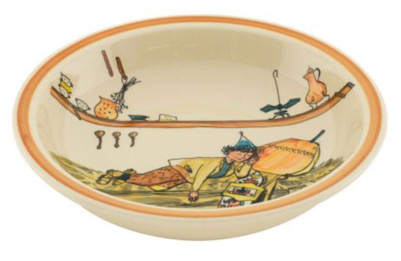 39013 Schale «Ursli schläft auf Glocke», Rheinfelder Keramik