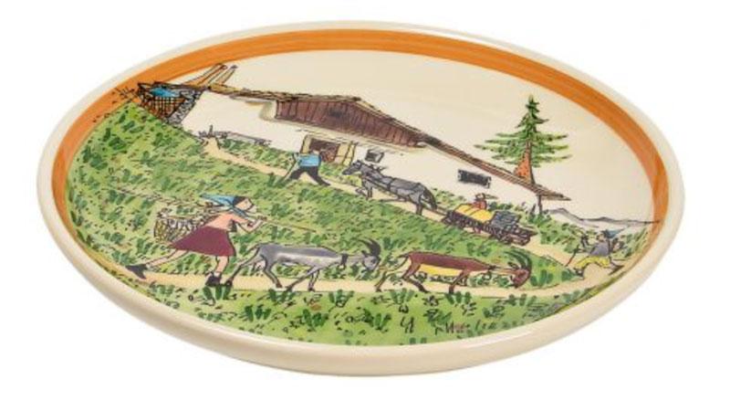 39114 Ursli + Flurina zur Alphütte, Rheinfelder Keramik