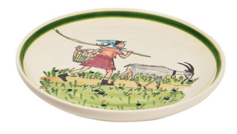 39125 Alpaufzug Flurina mit Geiss, Rheinfelder Keramik
