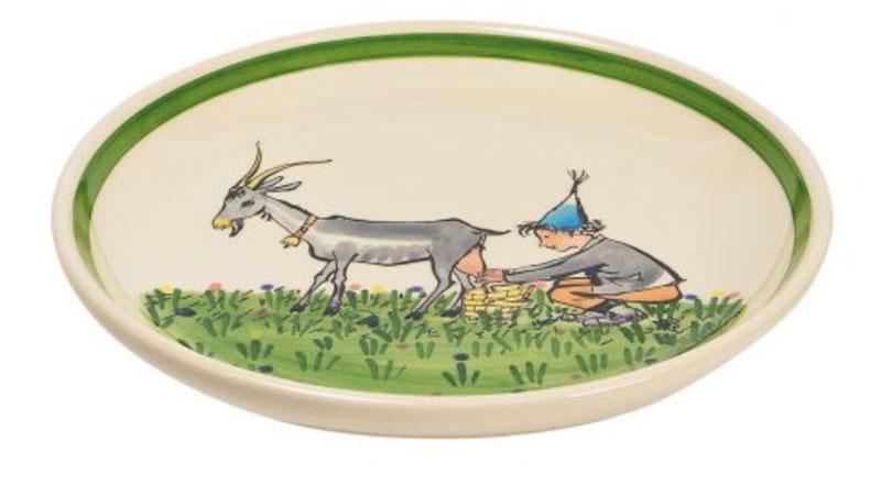39126 Alpaufzug Ursli mit Geiss, Rheinfelder Keramik