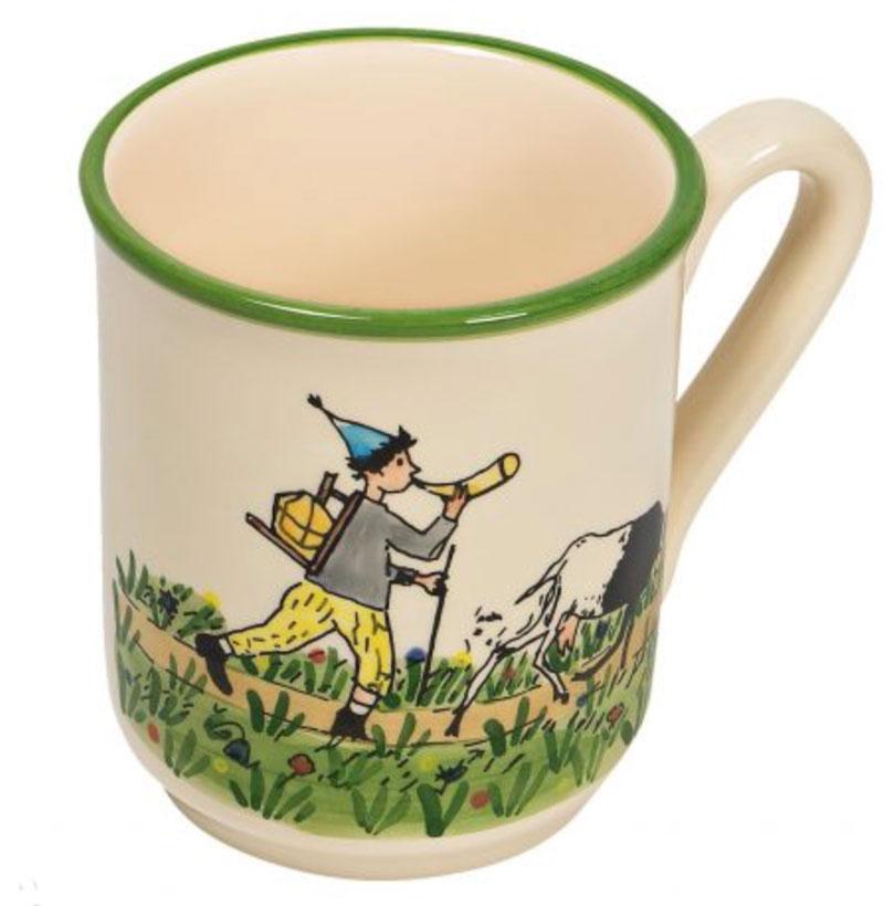 39455 Mug «Ursli mit Geiss», Rheinfelder Keramik