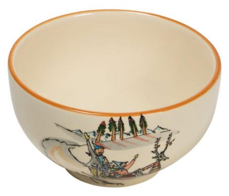 39482 Müslischale «Schlittenfahrt», Rheinfelder Keramik
